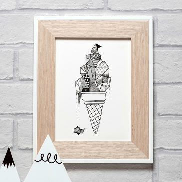 Ice Cream – A5 Unframed Print