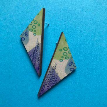 Colourful Geometric Earrings – Triangular – Pre Order