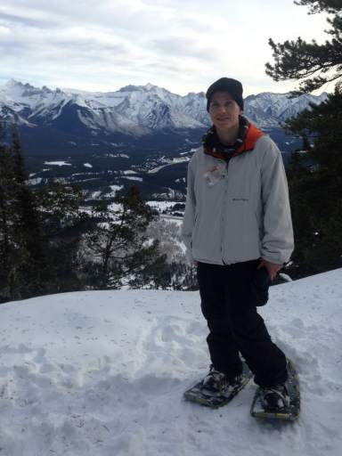 snowshoeing in Banff Alberta