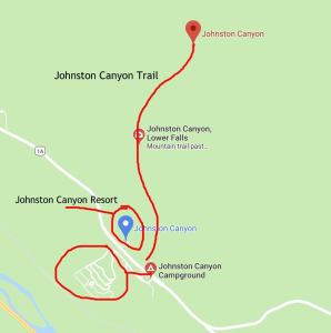 johnston canyon map