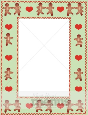 Gingerbread Border Christmas Menu Borders
