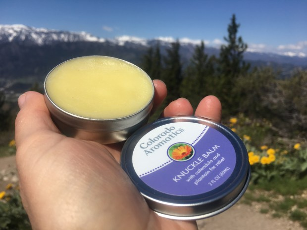 Colorado Aromatics Knuckle Balm Review Must Hike Must Eat #skincare #natural #antiinflammatory
