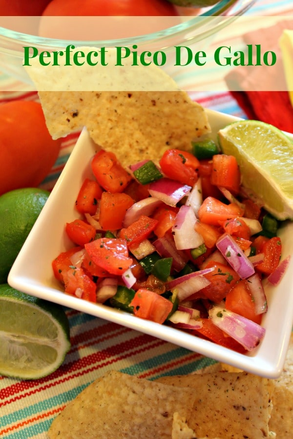 This is South of the Border at it's finest! Juicy tomatoes, sweet red onion and jalapeno are the basic ingredients of the most Amazing Pico De Gallo you will ever taste! You will think you are in Texas!