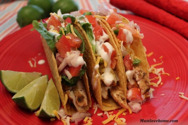 Lime Marinated Chicken Tacos