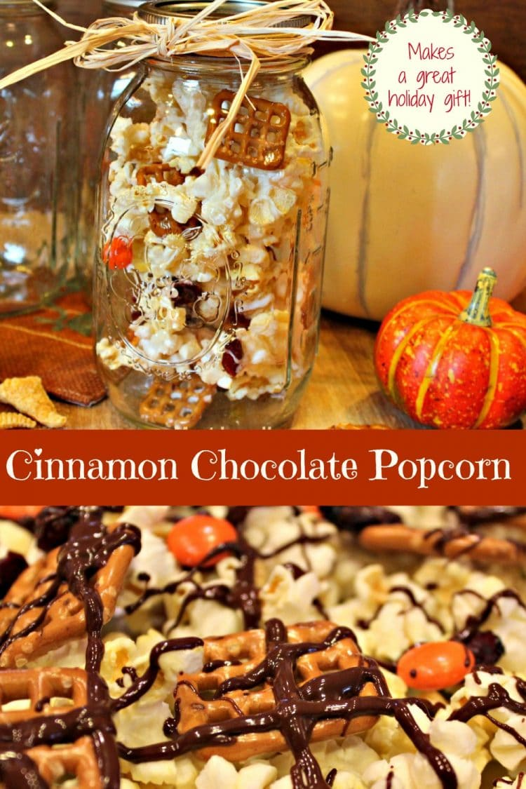 Cinnamon Chocolate Popcorn • Must Love Home