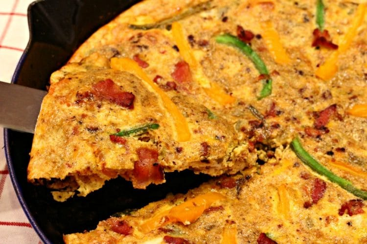 Southwest Bacon Frittata