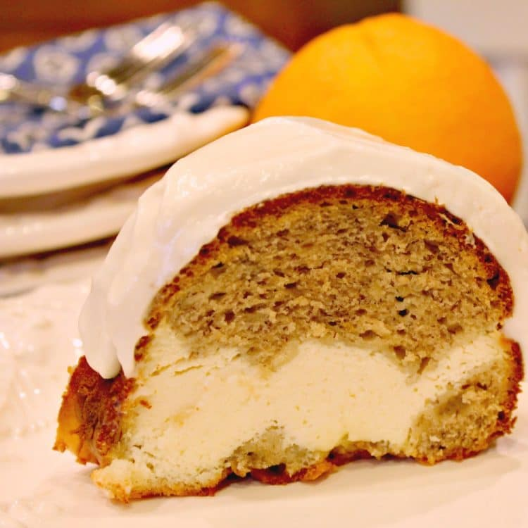 Banana Bread Cream Cheese Bundt Cake