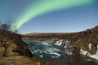 Northern-Lights-at-Hraunfossar