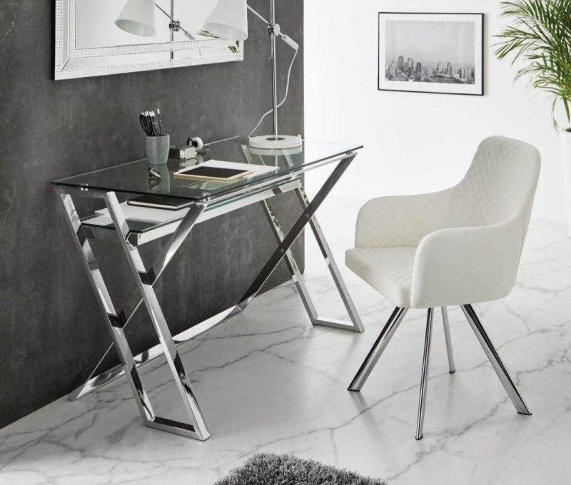 escritorios pequeños cristal