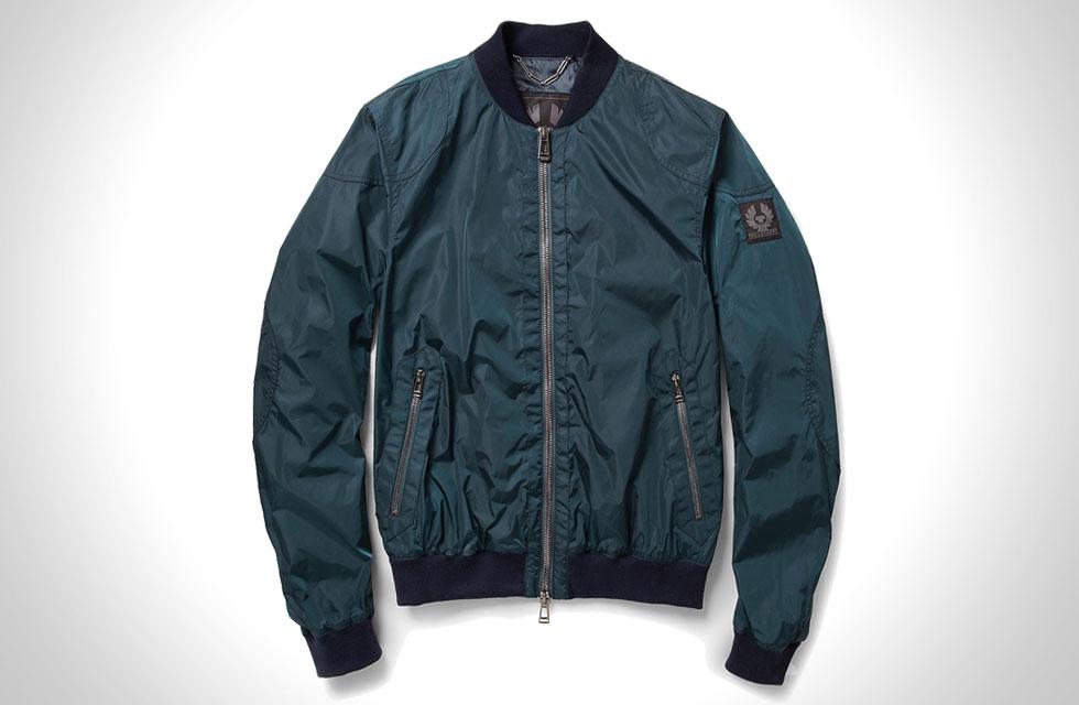 belstaff nylon bomber jacket