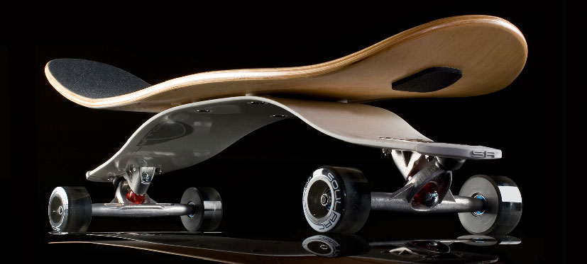 Soularc White Spring Skateboard