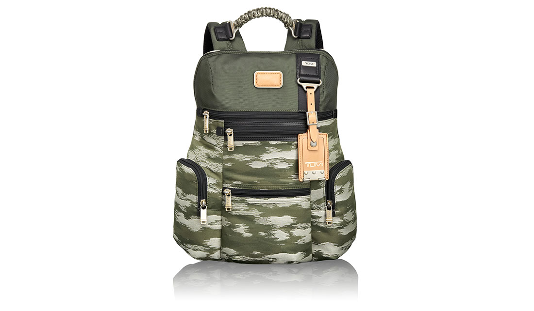 THE TUMI ALPHA BRAVO KNOX CAMO BACKPACK