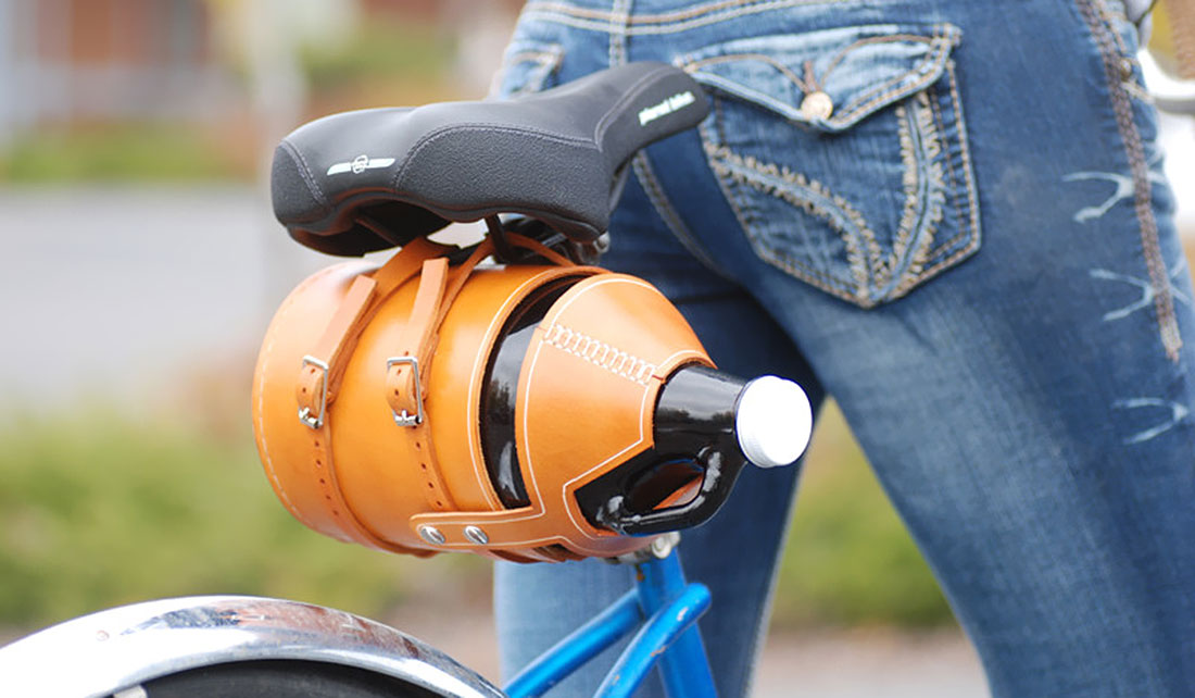 MERIWETHER LEATHER BIKE GROWLER CARRIER
