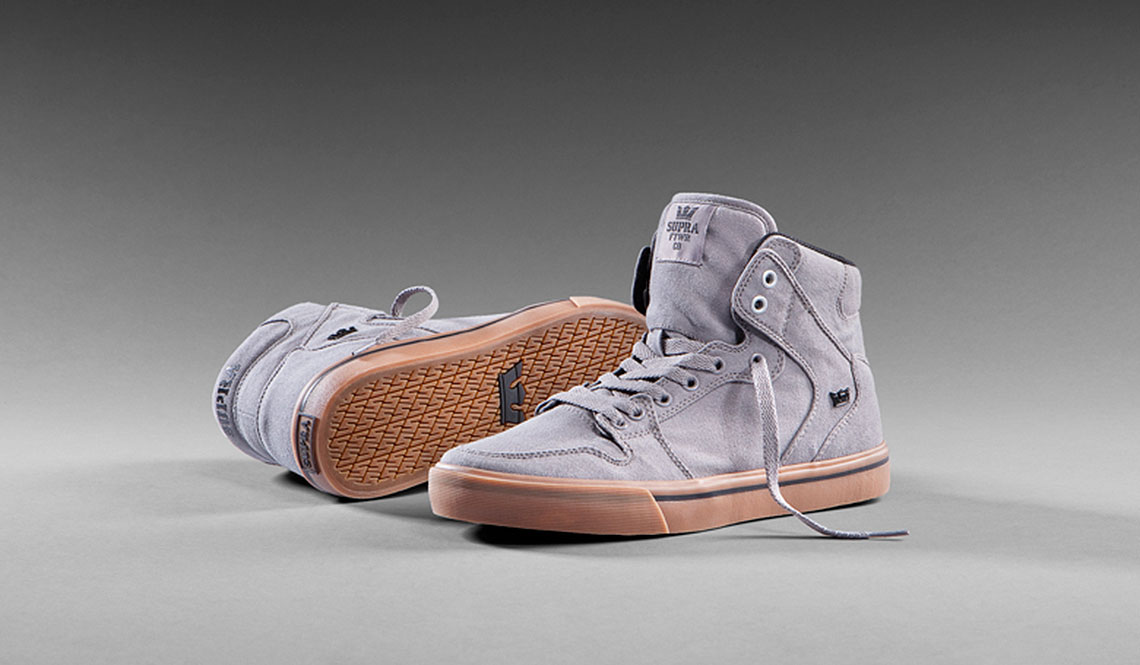 SUPRA VAIDER – GREY CANVAS SNEAKER