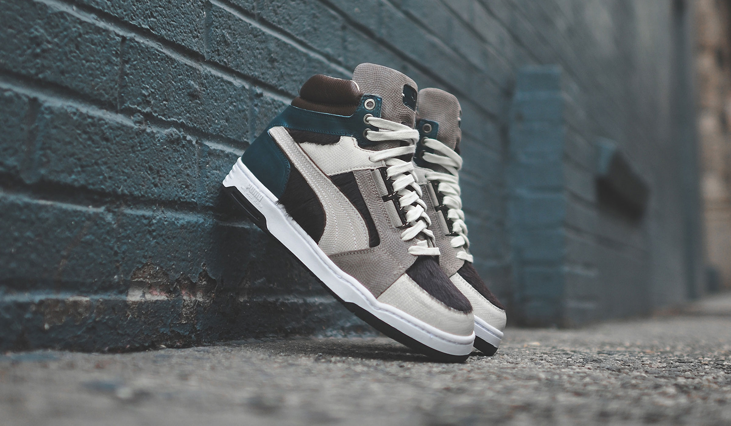 "PUMA SLIPSTREAM ""MADE IN ITALY"" - BROWN, GREY & GREEN"