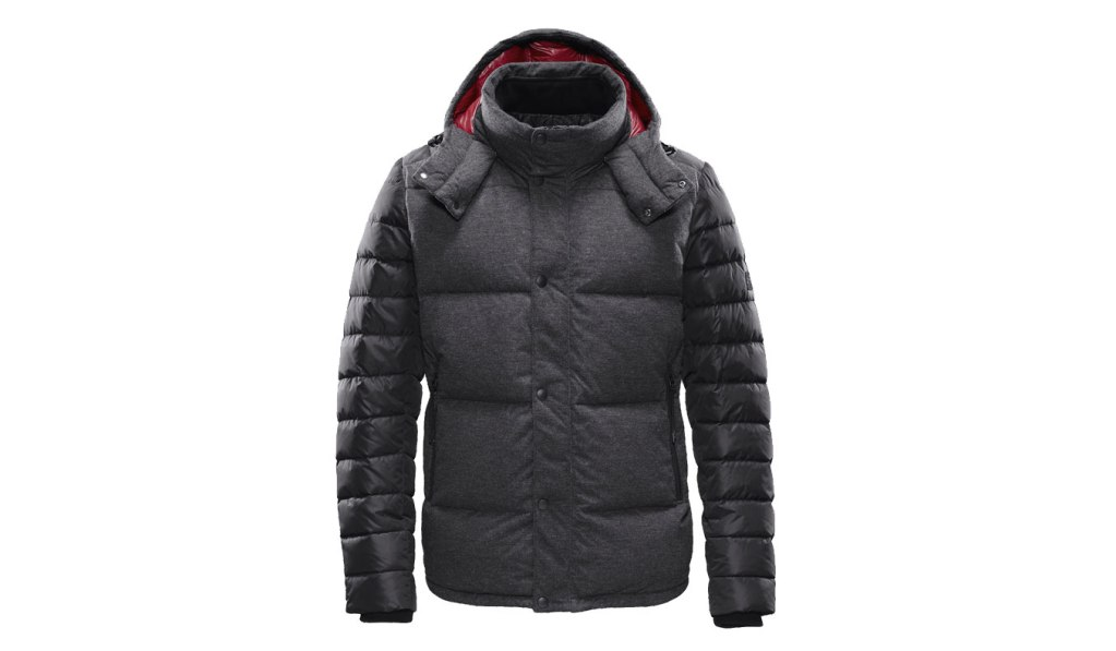 BONDED KNIT COMBO DOWN JACKET
