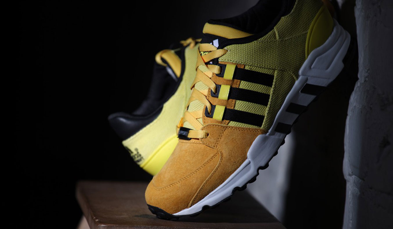 ADIDAS ORIGINALS EQT RUNNING SUPPORT - BRIGHT YELLOW