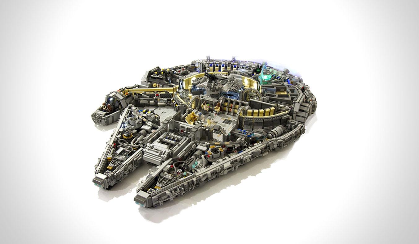 10,000-PIECE LEGO MILLENNIUM FALCON