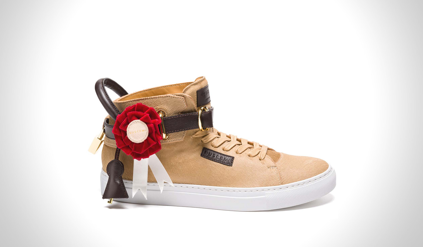 BUSCEMI 100MM TRIPLE CROWN TAN