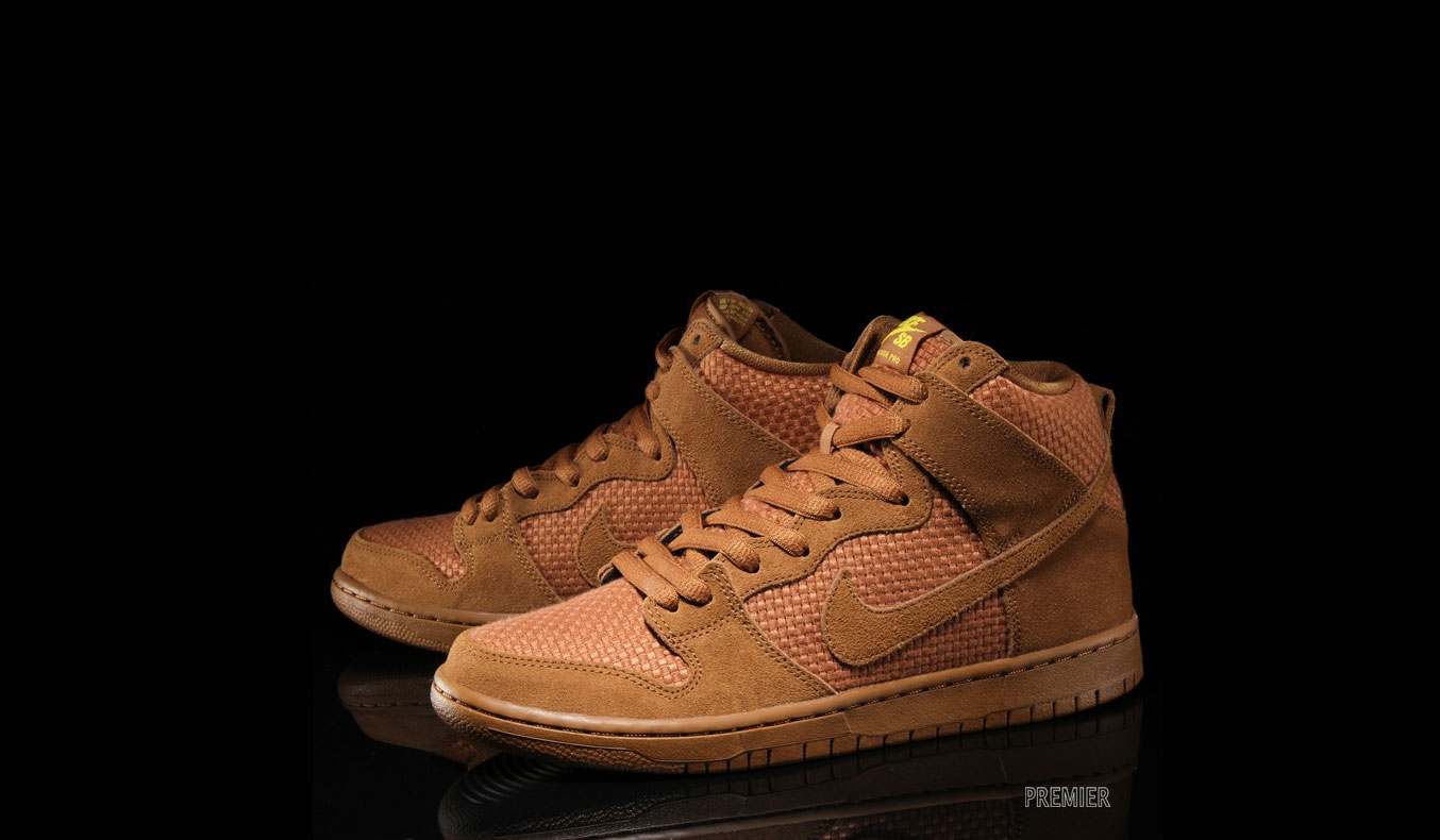 "NIKE SB DUNK HIGH PREMIUM ""BROWN ALE & TOUR YELLOW"""