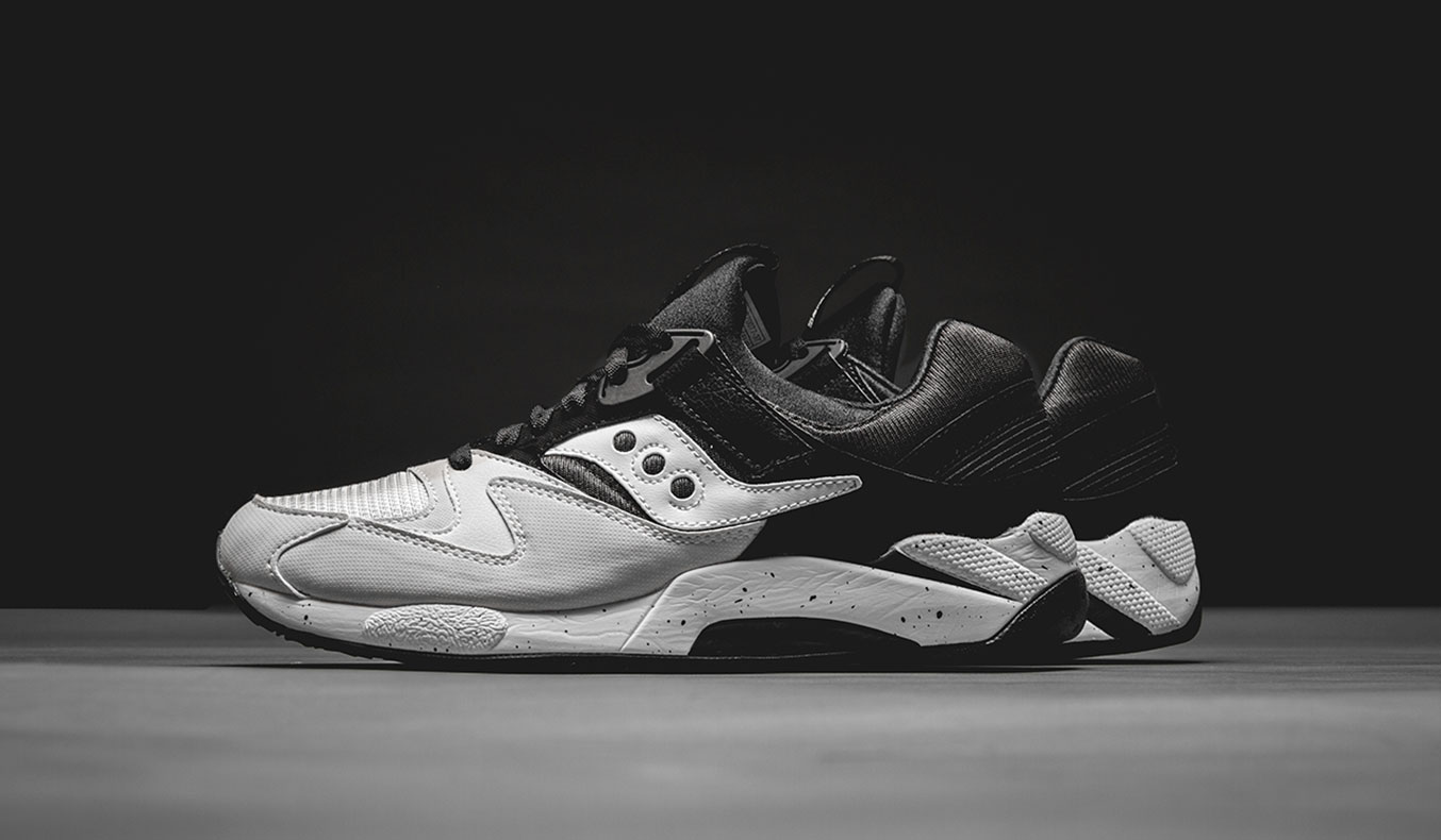 SAUCONY GRID 9000 HALLOWED WHITE/BLACK