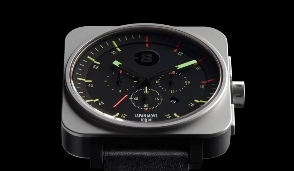 MINUS-8 SQUARE CHRONO WATCH