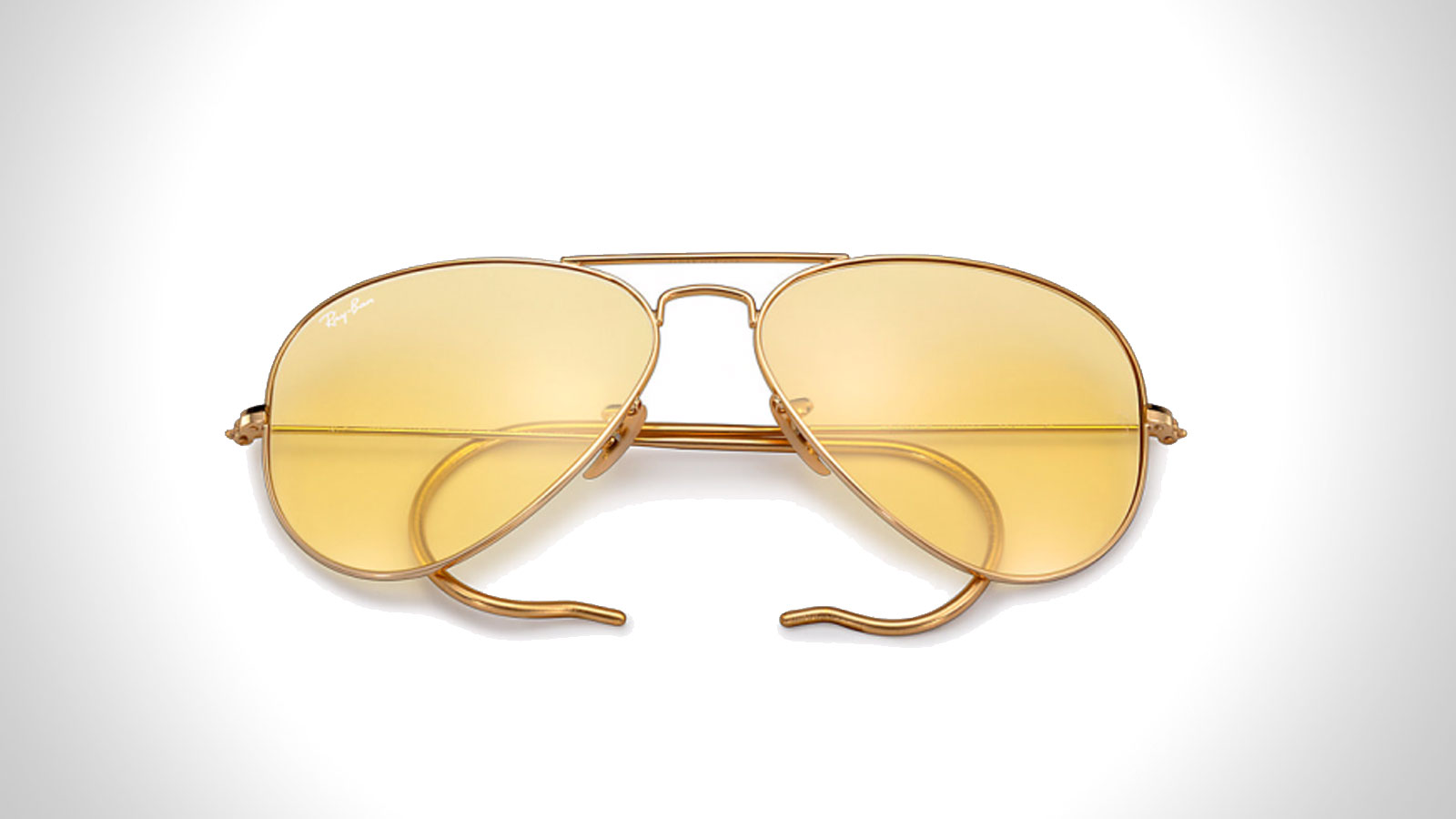 RAY-BAN AMBERMATIC AVIATOR SUNGLASSES