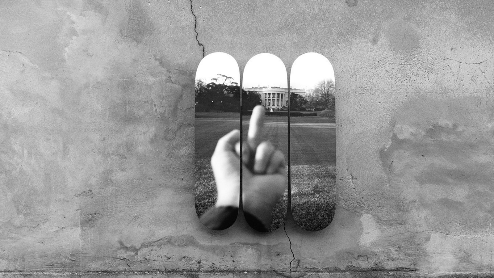 STUDY OF PERSPECTIVE - THE WHITE HOUSE 2017 SKATE DECKS