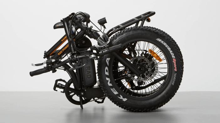 RadMini Electric Folding Fat Bike - Folded