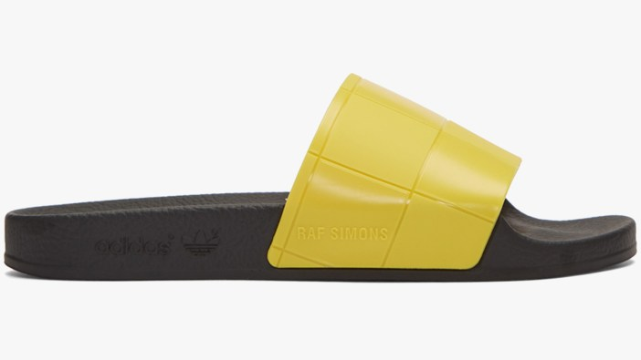 Raf Simons Yellow Adidas Men's Slides