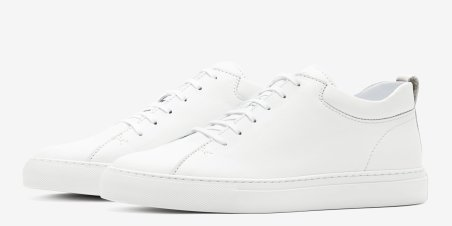 C.QP All White Mens Sneaker