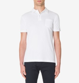 Sunspel Charcoal Jersey Polo Shirt-1