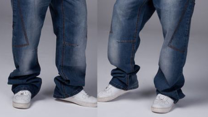 a6c349eb7 Stacked Pants Jeans (Way too long) – The urban hip-hop look with the huge  pant legs which are about 3 feet too long is just ridiculous.