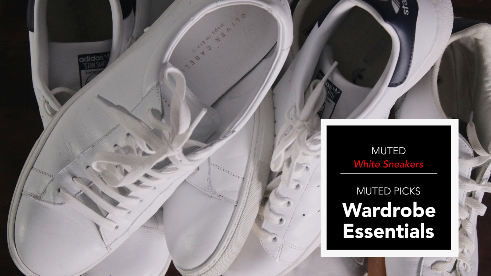 Wardrobe Essentials - Men's White Sneakers