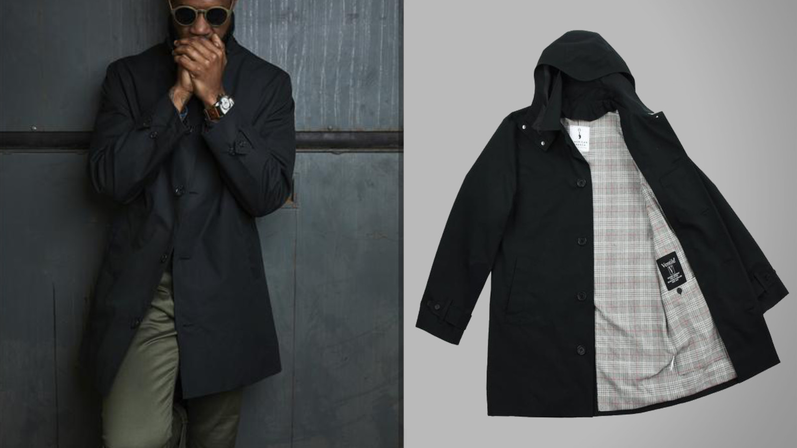 The Black American Trench Coat For Men