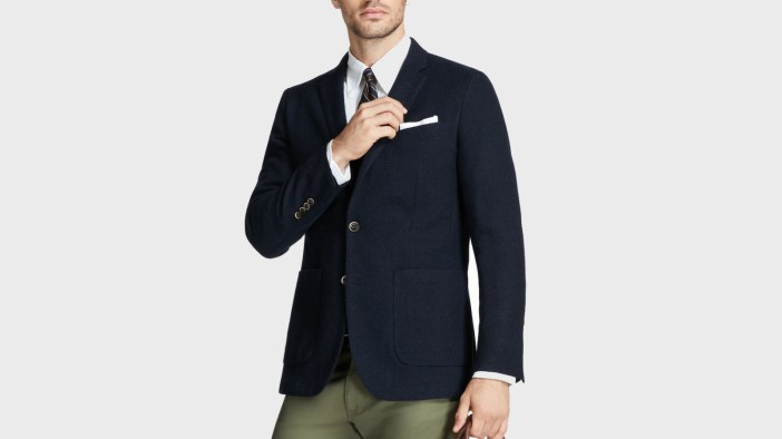 Brooks Brothers Milano Fit Two-Button Textured Blazer-1