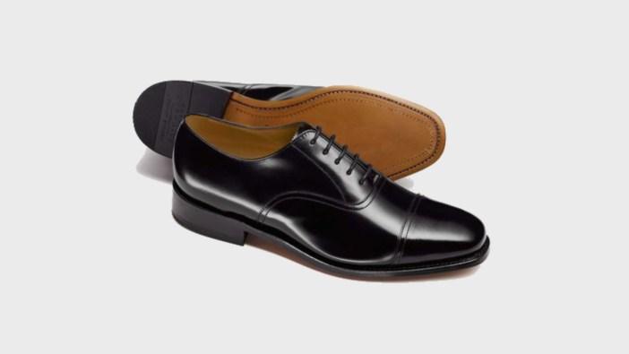 Charles Tyrwhitt Black Goodyear Welted Oxford Leather Sole Shoe-1