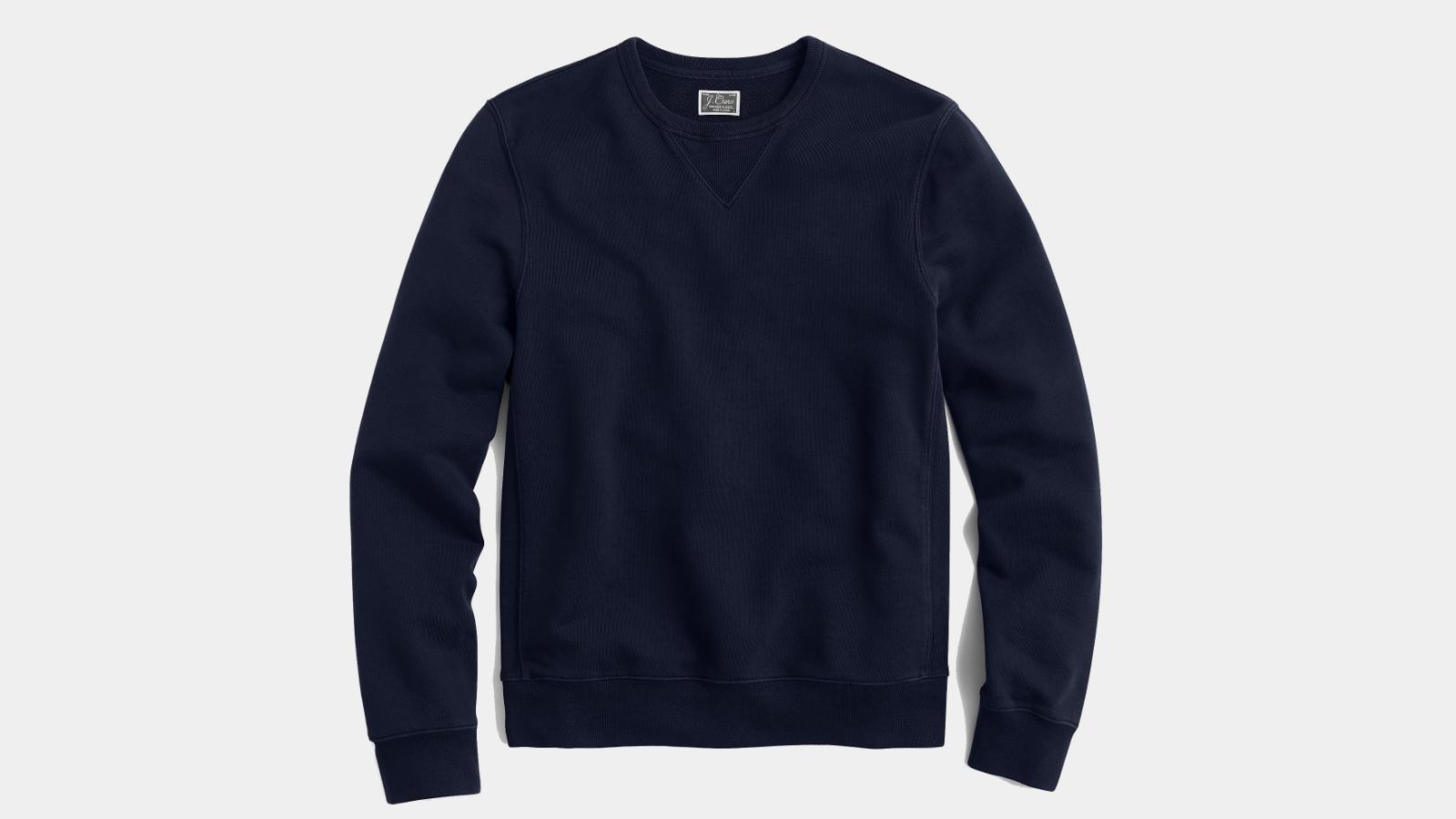 Mens Fashion-Fit Vintage Pilled Herrington Crew Neck Fleece Sweatshirt