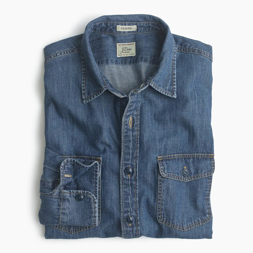 best denim shirts for men - j. crew