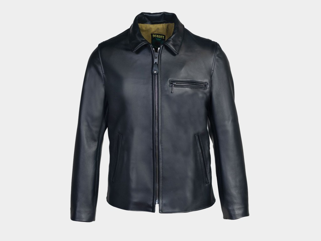 Schott Men's Waxy Lambskin Delivery Jacket