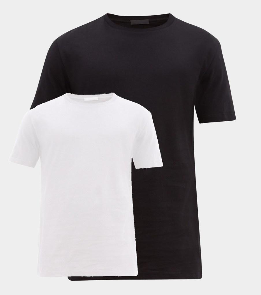 capsule wardrobe black & white t-shirts