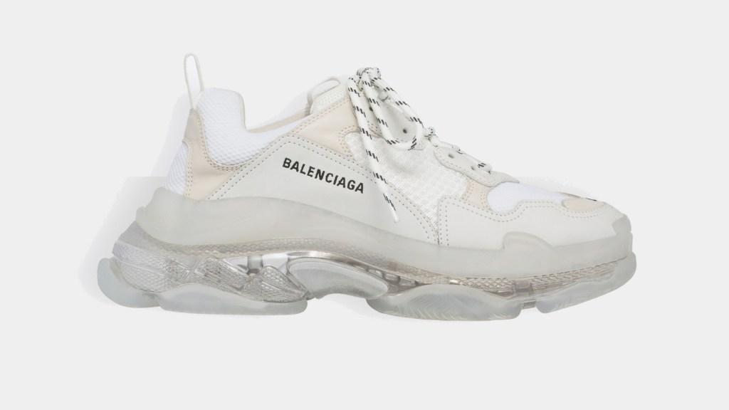 Balenciaga Triple Sole White Casual Sneakers for Men