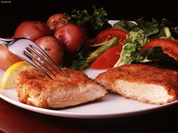Hepçil Yemek Tabağı - Tavuk, turp, domates ve marul