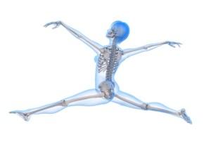 Bale yapan insan iskeleti