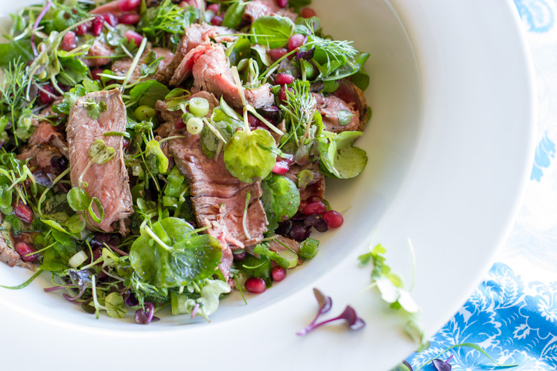Beef Pomegranate Salad Feature Image