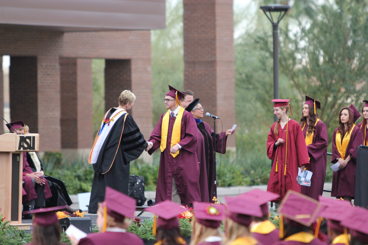 Matt's college graduation