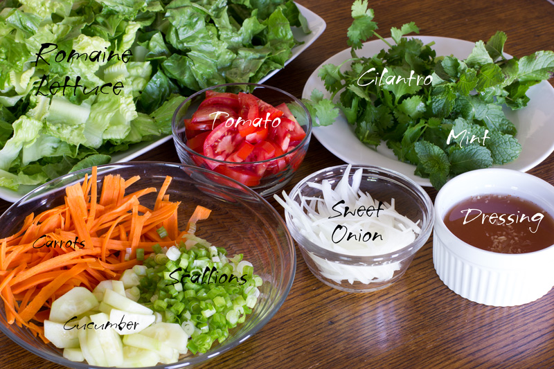 Ingredients for the salad base