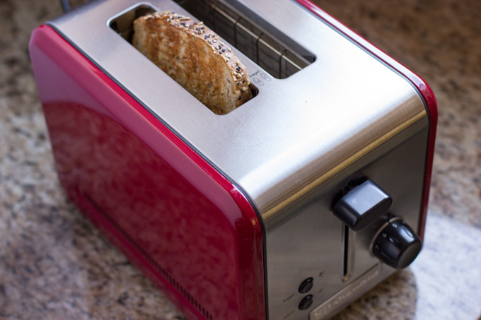 Toasting the bread