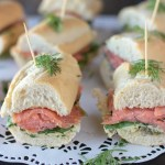 Smoked Salmon Baguette with Dill Butter