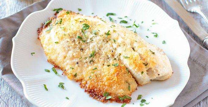 Baked Tilapia with Parmesan and Panko Crust